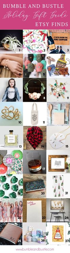 d0fce83ae81 Etsy Holiday Gift Guide By Bumble and Bustle Healthy Eating Recipes,  Support Small Business,