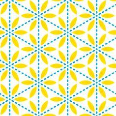 Retro Yellow Flower - stoflab - Spoonflower