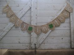 Lucky In Love Banner Lucky In Love Bunting by IchabodsImagination, $24.00