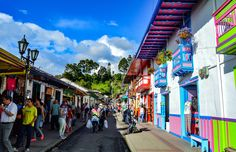 Exploring Small Travel Colombia - Things to do in Salento. This gorgeous colonial town located near the Cocora Valley is a must visit location when traveling in Colombia. Natural Park, Modern City, Amazing Destinations, Rafting, Small Towns, Day Trips, Night Life, Things To Do, National Parks