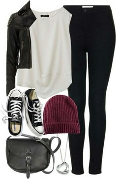 Stylish outfits, outfits for teens, edgy fall outfits, fall outfits for Casual School Outfits, Outfits For Teens, Stylish Outfits, Teenage Outfits, Fashion Mode, Look Fashion, Fashion Outfits, Womens Fashion, Fall Fashion