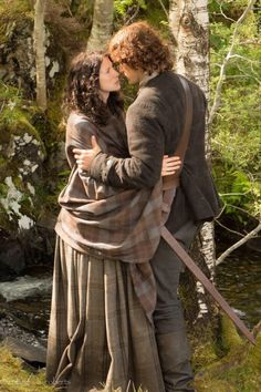 My heart! I love this photo. // Jamie and Claire, Outlander