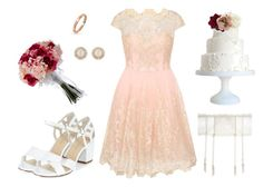 """""""Summer Wedding"""" by sphinx-moth ❤ liked on Polyvore featuring Mimi Holliday by Damaris, Chi Chi, New Look, Bling Jewelry, Kate Spade, Accessorize, vintage, wedding, summerwedding and bridal"""