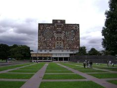 The Central University City Campus of the Universidad Nacional Autónoma de México (UNAM) is a prominent example of 20th century modernism. The complex was created by a team of more than 60 designers, following a master plan created by the architects Mario Pani and Enrique del Moral. Construction of the campus started in 1949.