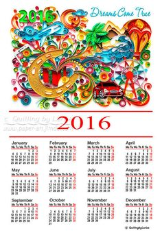 Card Digital card New year Paper Quilling Wall by QuillingbyLarisa