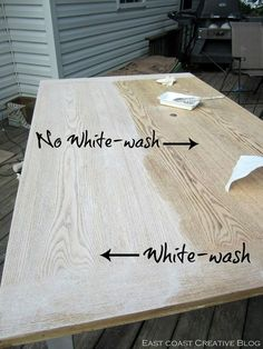 East Coast Creative: Refinished Dining Room Table {Furniture Makeover}. White  Wash ...