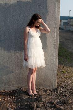 short #tulle #wedding dress
