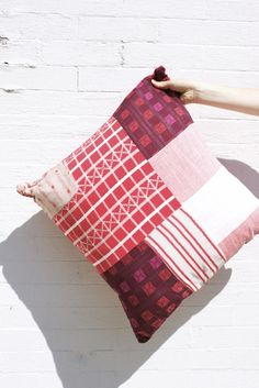 ACE & JIG PATCHED PILLOW GRIDLOCK