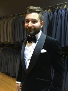 Made to measure black velvet tuxedo - dinner jacket