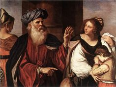 Abraham Casting Out Hagar and Ishmael - Guercino 1657