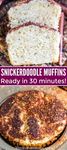 Snickerdoodle muffins have the soft texture and cinnamon taste of snickerdoodle cookies. The sour cream ensures they are the most moist muffins youve ever made. Muffin Recipes, Brunch Recipes, Bread Recipes, Breakfast Recipes, Dessert Recipes, Cooking Recipes, Breakfast Buffet, Recipes Dinner, Potato Recipes