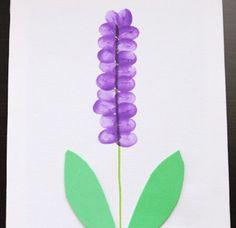 Finger painting flower