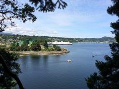 A hike on Newcastle Island Marine Provincial Park offers up fantastic views of #Nanaimo and the Georgia Strait. Click for more info on Newcastle Island #ExploreNanaimo #ExploreBC