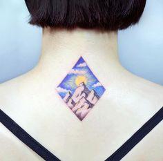 Landscape tattoo by Tattooist IDA