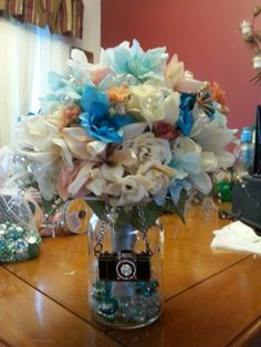 Each bridesmaid bouquet had a charm especially chosen by the bride for her lady. This one was Angela's, who is a photographer