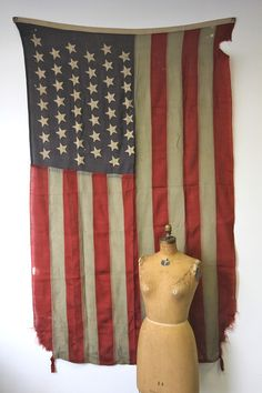 Antique 45 Star American Flag