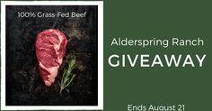$100 Alderspring Ranch 100% Grass-Fed Beef Giveaway