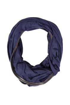 Navy Carly Rose Infinity Scarf - ash&dans