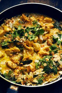 P'tit poulet à l'indienne et riz indien aux épices