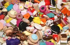 Job Lot Of 100 Mixed Handmade Fimo / Polymer Clay Food Beads & Charms