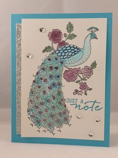 Jenny G Paper Crafts, Perfect Peacock, Watercolor, Stampin' Up! Perfect Peacock, Bird Cards, Team Member, Stamp Sets, Handmade Cards, Stamping, Alice, Paper Crafts, Watercolor