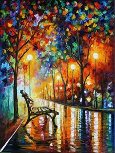 This is an oil painting on canvas by Leonid Afremov made using a palette knife only. You can view and purchase this painting here -afremov.com/LONELINESS-OF-AUTU… Use 15% discount coup...