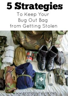 5 Strategies to Keep Your Bug Out Bag from Getting Stolen. One of, if not THE most important thing you can do to prepare for catastrophe is to pack a Bug Out Bag. Also known as a 72-hour bag, your Bug Out Bag needs to contain everything you need to survive 3 days. Most of us imagine using the BOB in situations such as after an EMP blast, major earthquake, hurricane, or terrorist attack when you've got to get out of dodge fast.