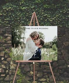 Welcome Sign With Photo Wedding Welcome Sign Photo Welcome Sign Engagement Party Rehearsal Dinner Wedding Shower Shower Sign is part of Wedding rehearsal dinner print option and click the add - Wedding Shower Signs, Wedding Signs, Summer Wedding, Dream Wedding, Wedding Day, Diy Wedding, Trendy Wedding, Budget Wedding, Party Summer