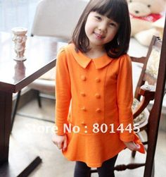 2011 Autumn Long Sleeve Dress Girl Cotton Dress Children Dress 2~9Y Free Shipping Wholesale Retail-in Dresses from Apparel & Accessories on Aliexpress.com