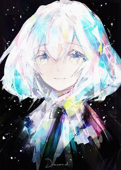 Houseki no Kuni \\ 宝石の国 \\ Land of the Lustrous \\ Country of Jewels { Pixiv Id 8186805 - 華野 } Manga Anime, Anime Nerd, Kawaii Chibi, Kawaii Anime, Vaporwave, Character Art, Character Design, Anime Angel, Anime People
