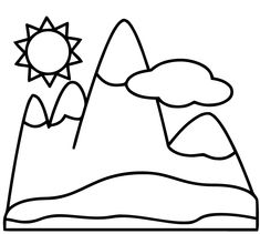 mountain coloring pages free mountain coloring pages free