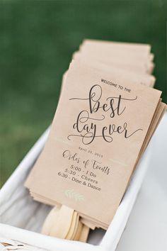 Printable Wedding Program Fan DIY By CiaoBellaStudio