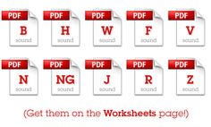 Free articulation worksheets for home practice