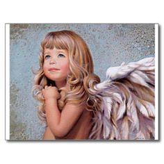 presentes do anjo cartão postal