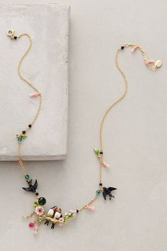These are the latest in Anthropologie's Jewelry, 14 K gold plated necklaces all designed by Les Nereides. Lovebird Wreath Necklace by Les Nereides Cute Jewelry, Boho Jewelry, Jewelry Box, Vintage Jewelry, Jewelry Accessories, Handmade Jewelry, Jewelry Necklaces, Fashion Jewelry, Jewelry Making