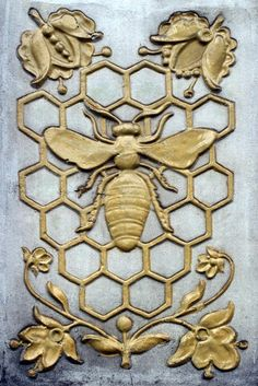 Decorative bas-relief with bee for background – stock editorial photography from Depositphotos' collection of millions of premium high-resolution stock photos, vector images and illustrations. Buzz Bee, Bee Honeycomb, I Love Bees, Bee Jewelry, Bee Art, Bee Design, Relief, Bee Happy, Insects
