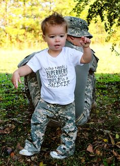Military Pride Shirt...Who needs a Superhero by AllRibbonedOut, $18.00