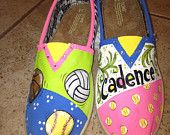 Custom painted TOMS   Made to Order