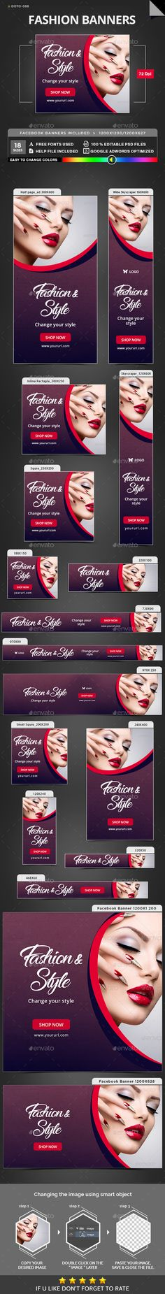 #Fashion #Banner #template - Banners & Ads Web Elements #design. download: https://graphicriver.net/item/fashion-banners/20338731?ref=yinkira