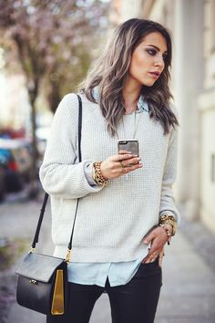 Layered spring look straight from Berlin, Germany.