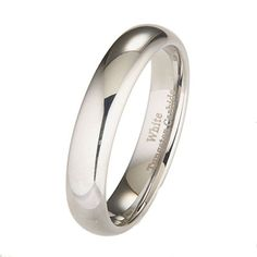Custom Wedding Ring White Tungsten Carbide Polished Classic Wedding Ring Size 8 Scratch Resistant Mirror Finish Cobalt Free and Comfort Fit Classic Wedding Rings, Custom Wedding Rings, Titanium Wedding Rings, Wedding Ring Bands, Tungsten Carbide Rings, Size 10 Rings, Engagement Jewelry, Wedding Engagement, Wedding Jewelry