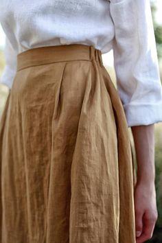 Leinen A-Linie Maxirock Skirt Pants, Dress Skirt, Modest Fashion, Fashion Dresses, Apostolic Fashion, Modest Clothing, Apostolic Style, Chic Clothing, Fashion Clothes