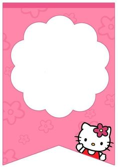 Do you love Hello Kitty? Let her entertain your guest in a baby shower party welcoming your daughter. Get our free printable Hello Kitty baby shower invitation template file to perfect the party. Kue Hello Kitty, Hello Kitty Cake, Birthday Banner Template, Happy Birthday Banners, Banner Design, Anniversaire Hello Kitty, Hello Kitty Birthday Invitations, Hello Kitty Baby Shower, Hello Kitty Themes
