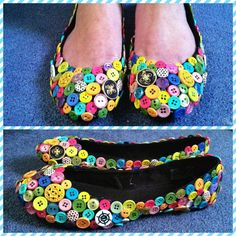 Button flats - THIS is what you need to do with your buttons!! One set for each granddaughter!