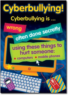 Essential resource for every classroom/teacher. What is Bullying? How to deal with Bullying? What are Bystanders? How to be Cybersmart! What is Cyberbullying? What Is Bullying, Stop Bullying, Anti Bullying, Cyber Bullying Poster, What Is Cyberbullying, Math Manipulatives, Bullying Prevention, Character Education, School Counselor
