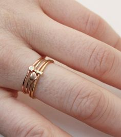 Catbird :: shop by category :: JEWELRY :: Rings :: Alphabet Rings - Gold size 6 Gold Jewelry, Jewelry Box, Jewelery, Jewelry Rings, Yellow Gold Rings, Silver Rings, Push Gifts, Buy Buy Baby, Knuckle Rings