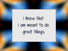 Daily Affirmation for March 31, 2014