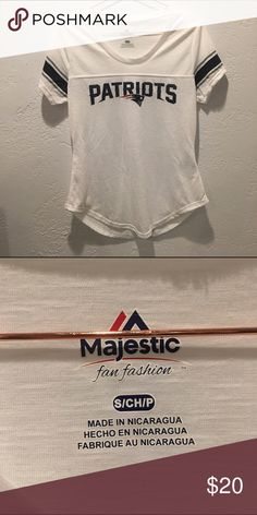 New England Patriots Football Tee Brand new, never worn! Just tried on. Size small, no flaws. Majestic Tops Tees - Short Sleeve