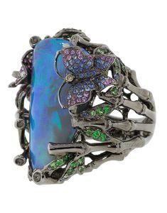 White Sapphire Earrings, Opal Earrings, Opal Jewelry, High Jewelry, Pink Sapphire, Flower Earrings, Jewelry Rings, Jewellery, Snake Bracelet