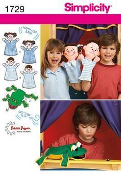 S 1729 Adorable Hand Puppets Sewing Pattern | eBay